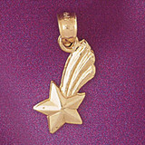 Shooting Star Pendant Necklace Charm Bracelet in Gold or Silver 5703