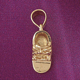 Baby Shoe Pendant Necklace Charm Bracelet in Gold or Silver 5934