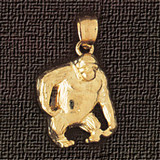 Monkey Charm Bracelet or Pendant Necklace in Yellow, White or Rose Gold DZ-2688 by Dazzlers