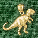 Dinosaur Pendant Necklace Charm Bracelet in Gold or Silver 2276