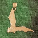 Bat Pendant Necklace Charm Bracelet in Gold or Silver 2443