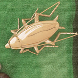 Cockroach Pendant Necklace Charm Bracelet in Gold or Silver 2444