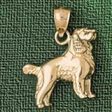 Golden Springer Spaniel Dog Pendant Necklace Charm Bracelet in Gold or Silver 2016