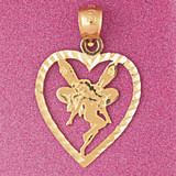 Heart Pendant Necklace Charm Bracelet in Gold or Silver 3870