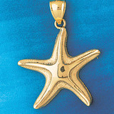 Starfish Charm Bracelet or Pendant Necklace in Yellow, White or Rose Gold DZ-86 by Dazzlers