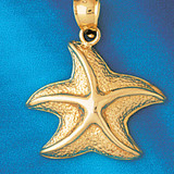 Starfish Charm Bracelet or Pendant Necklace in Yellow, White or Rose Gold DZ-87 by Dazzlers