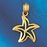 Starfish Charm Bracelet or Pendant Necklace in Yellow, White or Rose Gold DZ-99 by Dazzlers