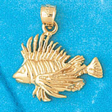 Goldfish Charm Bracelet or Pendant Necklace in Yellow, White or Rose Gold DZ-690 by Dazzlers