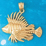 Goldfish Charm Bracelet or Pendant Necklace in Yellow, White or Rose Gold DZ-691 by Dazzlers