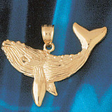 Whale Charm Bracelet or Pendant Necklace in Yellow, White or Rose Gold DZ-800 by Dazzlers