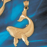 Whale Charm Bracelet or Pendant Necklace in Yellow, White or Rose Gold DZ-802 by Dazzlers