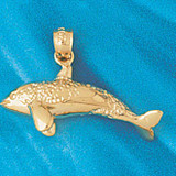Whale Charm Bracelet or Pendant Necklace in Yellow, White or Rose Gold DZ-813 by Dazzlers