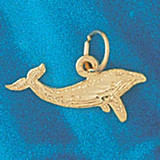 Whale Charm Bracelet or Pendant Necklace in Yellow, White or Rose Gold DZ-831 by Dazzlers