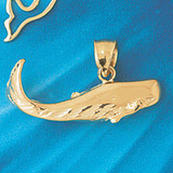 Whale Charm Bracelet or Pendant Necklace in Yellow, White or Rose Gold DZ-846 by Dazzlers