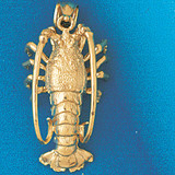 Lobster Charm Bracelet or Pendant Necklace in Yellow, White or Rose Gold DZ-1035 by Dazzlers