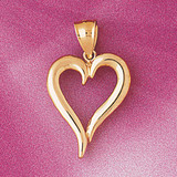 Floating Heart Charm Bracelet or Pendant Necklace in Yellow, White or Rose Gold DZ-3996 by Dazzlers