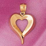 Floating Heart Charm Bracelet or Pendant Necklace in Yellow, White or Rose Gold DZ-3997 by Dazzlers