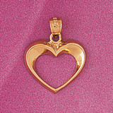 Floating Heart Charm Bracelet or Pendant Necklace in Yellow, White or Rose Gold DZ-4004 by Dazzlers