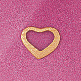 Floating Heart Charm Bracelet or Pendant Necklace in Yellow, White or Rose Gold DZ-4009 by Dazzlers