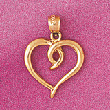 Floating Heart Charm Bracelet or Pendant Necklace in Yellow, White or Rose Gold DZ-4013 by Dazzlers