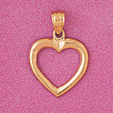 Floating Heart Charm Bracelet or Pendant Necklace in Yellow, White or Rose Gold DZ-4014 by Dazzlers