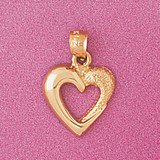 Floating Heart Charm Bracelet or Pendant Necklace in Yellow, White or Rose Gold DZ-4015 by Dazzlers