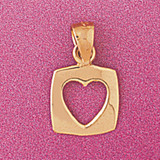 Floating Heart Charm Bracelet or Pendant Necklace in Yellow, White or Rose Gold DZ-4016 by Dazzlers