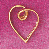 Floating Heart Charm Bracelet or Pendant Necklace in Yellow, White or Rose Gold DZ-4018 by Dazzlers