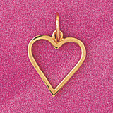 Floating Heart Charm Bracelet or Pendant Necklace in Yellow, White or Rose Gold DZ-4021 by Dazzlers