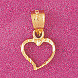Floating Heart Charm Bracelet or Pendant Necklace in Yellow, White or Rose Gold DZ-4022 by Dazzlers