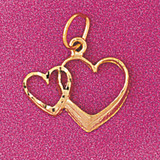 Floating Heart Charm Bracelet or Pendant Necklace in Yellow, White or Rose Gold DZ-4023 by Dazzlers
