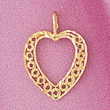 Heart Charm Bracelet or Pendant Necklace in Yellow, White or Rose Gold DZ-3796 by Dazzlers