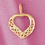 Heart Charm Bracelet or Pendant Necklace in Yellow, White or Rose Gold DZ-3797 by Dazzlers