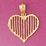 Heart Charm Bracelet or Pendant Necklace in Yellow, White or Rose Gold DZ-3800 by Dazzlers
