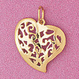 Heart Charm Bracelet or Pendant Necklace in Yellow, White or Rose Gold DZ-3805 by Dazzlers