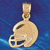 Football Helmet Charm Bracelet or Pendant Necklace in Yellow, White or Rose Gold DZ-3206 by Dazzlers