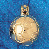 Soccer Ball Charm Bracelet or Pendant Necklace in Yellow, White or Rose Gold DZ-3253 by Dazzlers
