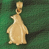 Penguin Charm Bracelet or Pendant Necklace in Yellow, White or Rose Gold DZ-1611 by Dazzlers