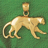 Tiger Charm Bracelet or Pendant Necklace in Yellow, White or Rose Gold DZ-1735 by Dazzlers