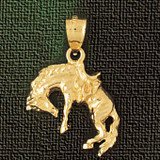 Wild Horse Charm Bracelet or Pendant Necklace in Yellow, White or Rose Gold DZ-1838 by Dazzlers