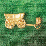 Carriage Charm Bracelet or Pendant Necklace in Yellow, White or Rose Gold DZ-1849 by Dazzlers