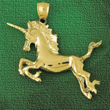 Unicorn Horse Charm Bracelet or Pendant Necklace in Yellow, White or Rose Gold DZ-1854 by Dazzlers