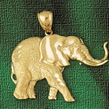 Elephant Charm Bracelet or Pendant Necklace in Yellow, White or Rose Gold DZ-2305 by Dazzlers