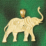 Elephant Charm Bracelet or Pendant Necklace in Yellow, White or Rose Gold DZ-2310 by Dazzlers