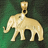 Elephant Charm Bracelet or Pendant Necklace in Yellow, White or Rose Gold DZ-2311 by Dazzlers