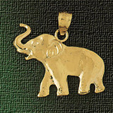 Elephant Charm Bracelet or Pendant Necklace in Yellow, White or Rose Gold DZ-2314 by Dazzlers