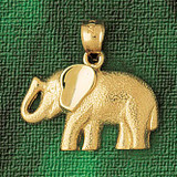 Elephant Charm Bracelet or Pendant Necklace in Yellow, White or Rose Gold DZ-2316 by Dazzlers
