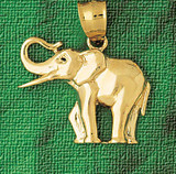 Elephant Charm Bracelet or Pendant Necklace in Yellow, White or Rose Gold DZ-2320 by Dazzlers