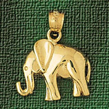 Elephant Charm Bracelet or Pendant Necklace in Yellow, White or Rose Gold DZ-2322 by Dazzlers