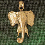 Elephant Head Charm Bracelet or Pendant Necklace in Yellow, White or Rose Gold DZ-2340 by Dazzlers